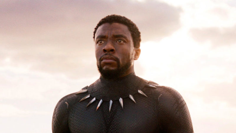 """This image released by Disney and Marvel Studios' shows Chadwick Boseman in a scene from """"Black Panther."""" As Hollywood's awards season properly gets under way, """"Black Panther"""" is poised to be the first comic book film to be nominated for best picture."""